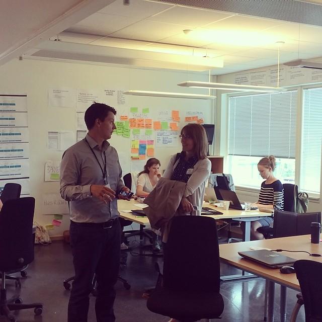 Helle og Andrè i Oslo betas prosjektlokaler